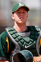 Oliver Box - Oakland Athletics - 2009 extended spring training - The Australian catcher is a recent international free agent signing.Photo by:  Bill Mitchell/Four Seam Images