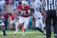 STANFORD, CA - NOVEMBER 23, 2013: Jordan Pratt during Stanford's game against Cal. The Cardinal defeated the Bears 63-13.