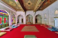 Period room Mehrangarh Fort, Jodhpur, India.