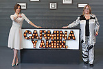 Spanish actresses Maria Leon (L) and Carmina Barrios (R) pose during `Carmina y amen´ film premiere photocall at Cineteca Matadero in Madrid, Spain. April 28, 2014. (ALTERPHOTOS/Victor Blanco)