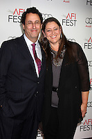 HOLLYWOOD, CA - NOVEMBER 08: Tony Kushner and Camryn Manheim at the 'Lincoln' premiere during the 2012 AFI FEST at Grauman's Chinese Theatre on November 8, 2012 in Hollywood, California. Credit: mpi21/MediaPunch Inc. /NortePhoto