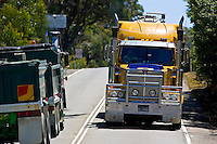 Trucks on the Great Western Highway from Sydney to Adelaide, New South Wales, Australia