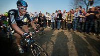 E3 Prijs Harelbeke 2012.Bernie Eisel up the Oude Kwaremont