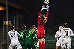 03.12.2017, Platz 11, Bremen, GER, DFB Pokal der Frauen, Achtelfinale, SV Werder Bremen vs SGS Essen, <br /> <br /> im Bild | picture shows<br /> Anneke Borbe (Werder Bremen #30) kl&auml;rt vor Marina Hilgering (SGS Essen #27), <br /> <br /> Foto &copy; nordphoto / Rauch