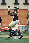 Wake Forest Demon Deacons wide receiver Steven Claude (88) warms-up prior to the game against the Rice Owls at BB&T Field on September 29, 2018 in Winston-Salem, North Carolina. The Demon Deacons defeated the Owls 56-24. (Brian Westerholt/Sports On Film)