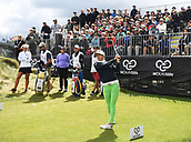 30th September 2017, Windross Farm, Auckland, New Zealand; LPGA McKayson NZ Womens Open, third round;  Sweden's Pernilla Lindberg tees off on the 1st