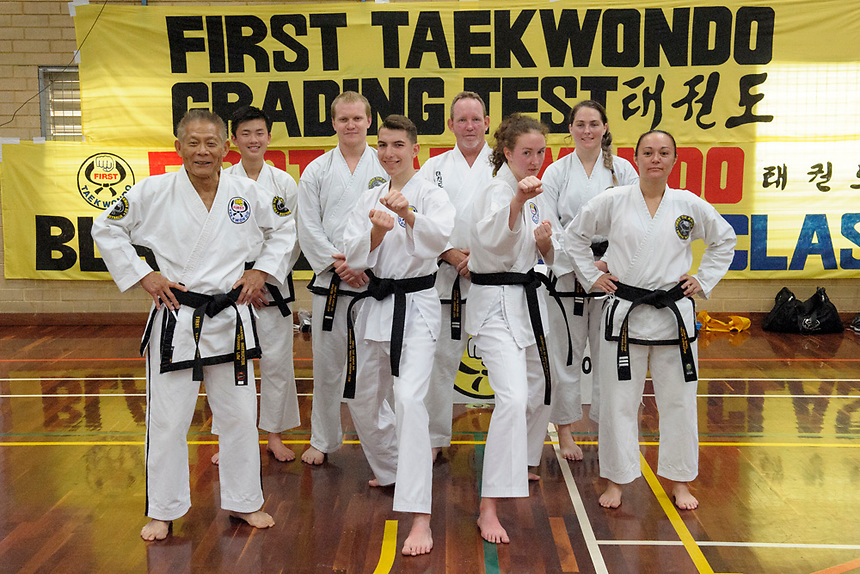 First Tae Kwan Do gradings, Perth, September 2017