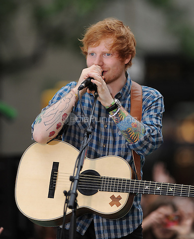 NEW YORK, NY - JULY 4: Ed Sheeran performs on NBC's Today Show Concert Series in New York City on July 4, 2014. Credit: John Palmer/MediaPunch