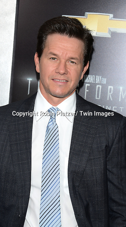 "Mark Wahlberg attend the US Premiere of ""Transformers: Age of Extinction"" on June 25, 2014 at The Ziegfeld Theatre in New York City, New York, USA."