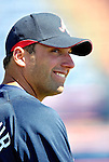 6 March 2007: Atlanta Braves right fielder Jeff Francoeur waits to take batting practice prior to a game against the Washington Nationals at Space Coast Stadium in Viera, Florida. <br /> <br /> Mandatory Photo Credit: Ed Wolfstein Photo