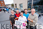 "Launching the new ""Need a Taxi"" campaign at Taxi Rank at Abbeycourt in Tralee on Tuesday were from left: Pat O'Carroll, Joe Flaherty, John Drummey, Tralee Chamber Alliance, Philip Beirne and Tim Hallissey."