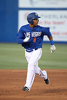 Desmond Jennings (8) of the Las Vegas 51s runs the bases during a game against the Sacramento River Cats at Cashman Field on June 15, 2017 in Las Vegas, Nevada. Las Vegas defeated Sacramento, 12-4. (Larry Goren/Four Seam Images)