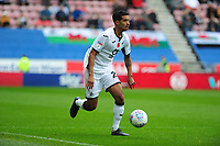 Kyle Naughton of Swansea City in action during the Sky Bet Championship match between Wigan Athletic and Swansea City at The DW Stadium in Wigan, England, UK. Saturday 2 November 2019