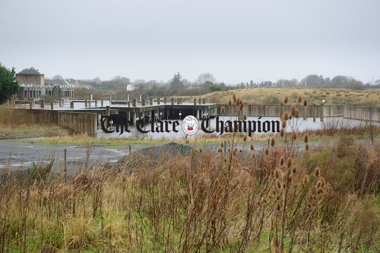 A view of the locked up site in Clarecastle. Photograph by John Kelly.