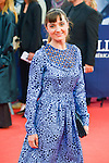 """Nina Meurisse poses on the red carpet before the screening of the film """"The Man from U.N.C.L.E."""" during the 41st Deauville American Film Festival on September 11, 2015 in Deauville, France"""
