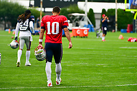 August 3, 2017: New England Patriots quarterback Jimmy Garoppolo (10) walks to practice at the New England Patriots training camp held at Gillette Stadium, in Foxborough, Massachusetts. Eric Canha/CSM