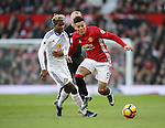 Manchester United's Marcos Rojo tussles with Sunderland's Didier N'Dong during the Premier League match at Old Trafford Stadium, London. Picture date December 26th, 2016 Pic David Klein/Sportimage