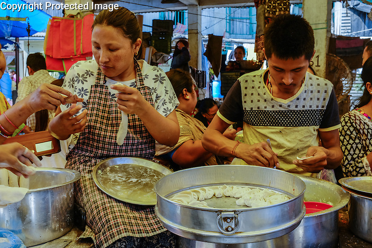 The Saturday bazaar at Kalimpong, in Assam, North-East India