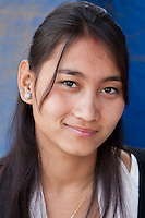 Kathmandu, Nepal.  Young Nepalese Woman of the Newari Ethnic Group.
