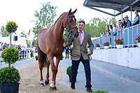 NZL-Andrew Nicholson with Teseo during the 1st Horse Inspection, CCI4* presented by DHL , at the 2017 Luhmühlen International Horse Trial. Wednesday 14 June. Copyright Photo: Libby Law Photography