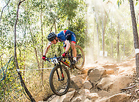Picture by Alex Broadway/SWpix.com - 05/09/17 - Cycling - UCI 2017 Mountain Bike World Championships - XCO - Cairns, Australia - Dan Tullett of Great Britain in action during a practice session.