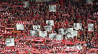 Tifosi Union Berlin <br /> Fussball, Herren, Saison 2019/2020, 1. Bundesliga, 1. FC Union Berlin - RB Leipzig, Aktion - Endlich dabei - f¸r verstorbene Unioner, die das historisch erste Bundesligaspiel von Union nicht miterleben kˆnnen, 18.08. 2019, *** Soccer, Men, Season 2019 2020, 1 Bundesliga, 1 FC Union Berlin RB Leipzig, Action Finally here for deceased Unioners who cant witness Unions historically first Bundesliga match, 18 08 2019, Copyright: xMatthiasxKochx  <br /> <br /> Bundesliga<br /> Foto Imago/Insidefoto <br /> ITALY ONLY
