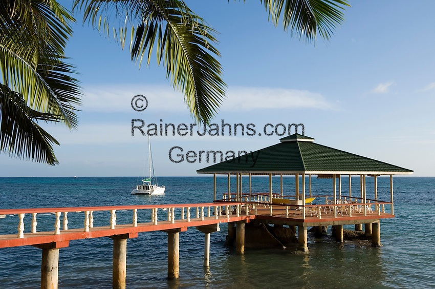 Seychelles, Island Praslin, Anse Bateau: Hotel Coco de Mer - jetty