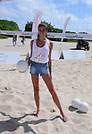 MIAMI BEACH, FL - FEBRUARY 20: Sara Sampaio participates in Sports Illustrated Swimsuit 2014 Beach Volleyball:Models & Celebrity Chefs on February 20, 2014 in Miami Beach, Florida. (Photo by Johnny Louis/jlnphotography.com)