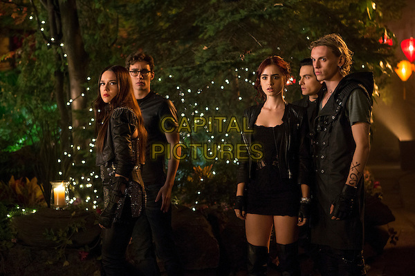 Jemina West, Lily Collins, Kevin Zegers, Jamie Campbell Bower.in The Mortal Instruments: City of Bones (2013) .*Filmstill - Editorial Use Only*.CAP/NFS.Supplied by Capital Pictures.