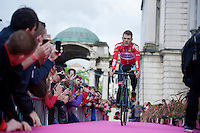 Maxime Monfort (BEL/Lotto-Belisol) presented to the Belfast crowd as team captain for Lotto-Belisol<br /> <br /> Giro d'Italia 2014