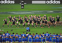 The All Blacks perform the haka during the international rugby match between the New Zealand All Blacks and France at Eden Park, Auckland, New Zealand on Saturday, 8 June 2013. Photo: Dave Lintott / lintottphoto.co.nz