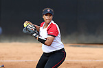 RALEIGH, NC - MARCH 29: NC State's Cheyenne Balzer. The North Carolina State University Wolfpack hosted the Liberty University Flames on March 29, 2017, at Dail Softball Stadium in Raleigh, NC in a Division I College Softball game. Liberty won the game 5-3.
