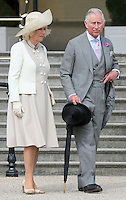 19 May 2016 - London, England - Prince Charles Prince of Wales and Camilla Duchess of Cornwall during a garden party at Buckingham Palace in London. Photo Credit: ALPR/AdMedia