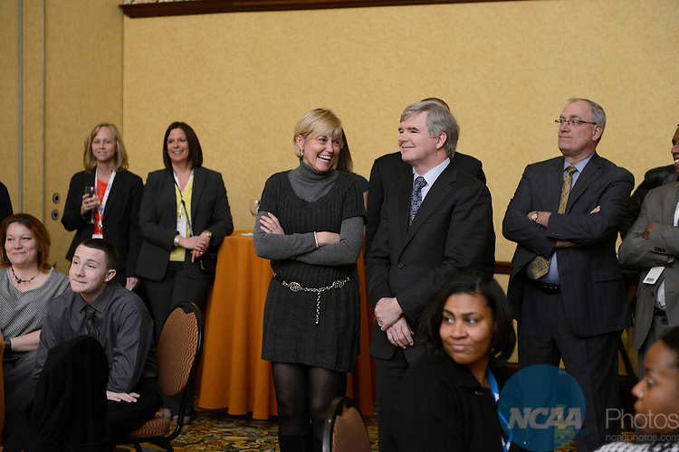 16 JAN 2013: Wally Renfro's retirement party at the 2013 NCAA Convention held at the Gaylord Texan in Grapevine, TX. Stephen Nowland/NCAA Photos.Pictured: Mark Emmert