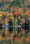 Fall view of Parlin Pond near Jackman, Maine, USA