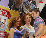 """Aaron Tveit, Bernadette Peters, Mary Tyler Moore - Broadway Barks Lucky 13th Annual Adopt-a-thon - A """"Pawpular"""" Star-studded dog and cat adopt-a-thon on July 9, 2011 in Shubert Alley, New York City, New York with Bernadette Peters and Mary Tyler Moore as hosts.  (Photo by Sue Coflin/Max Photos)"""