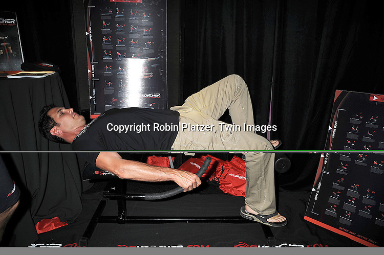 Don Diamont trying The Skorcher butt machine.atThe Official Talent Gift Lounge at The 35th Annual Daytime Emmy Awards backstage at The Kodak Theatre on June 19, 2008 in Hollywood, California. ..Robin Platzer, Twin Images