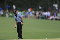 Jimmy Walker (USA) on the 15th green during the 2nd round at the The Masters , Augusta National, Augusta, Georgia, USA. 12/04/2019.<br /> Picture Fran Caffrey / Golffile.ie<br /> <br /> All photo usage must carry mandatory copyright credit (© Golffile | Fran Caffrey)