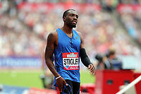 Michael Stigler of USA competes in the menís 400 metres hurdles during the Muller Anniversary Games at The London Stadium on 9th July 2017