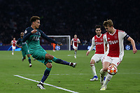 Dele Alli of Tottenham Hotspur and Matthijs de Ligt of Ajax during AFC Ajax vs Tottenham Hotspur, UEFA Champions League Football at the Johan Cruyff Arena on 8th May 2019