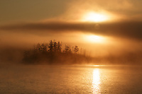 """Foggy Sunrise on Kenny Lake""<br />