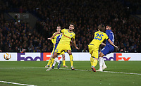 Chelsea's Ruben Loftus-Cheek scores his side's second goal  <br /> <br /> Photographer Rob Newell/CameraSport<br /> <br /> UEFA Europa League Group L - Chelsea v FC BATE Borisov - Thursday 25th October - Stamford Bridge - London<br />  <br /> World Copyright © 2018 CameraSport. All rights reserved. 43 Linden Ave. Countesthorpe. Leicester. England. LE8 5PG - Tel: +44 (0) 116 277 4147 - admin@camerasport.com - www.camerasport.com