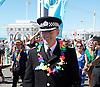 Brighton Pride <br /> parade, atmosphere and music in Preston Park, Brighton, East Sussex, Great Britain <br /> 6th August 2016 <br /> <br /> Bernie O'Reilly <br /> Deputy Chief Constable <br /> Sussex Police <br /> Brighton Pride <br /> <br /> Photograph by Elliott Franks <br /> Image licensed to Elliott Franks Photography Services