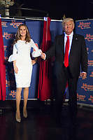 Wax figure's of the First Lady of the United State of America Melania Trump with the wax figure of the President of the USA, Donald Trump