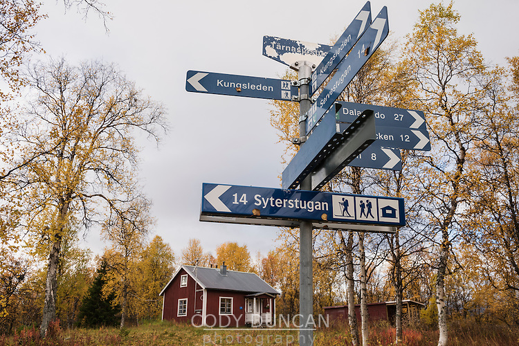 STF Tärnasjö hut, near lake Tärnasjön, Kungsleden trail, Lapland, Sweden