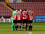 Team togetherness before the U18 Professional Development League 2 play off semi final match at  Bramall Lane, Sheffield. Picture date: April 21st 2017. Pic credit should read: Simon Bellis/Sportimage