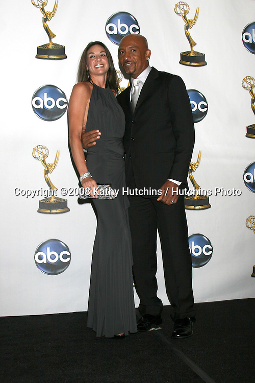 Montel Williams & Wife in the press room after attending  the Daytime Emmys 2008 at the Kodak Theater in Hollywood, CA on.June 20, 2008.©2008 Kathy Hutchins / Hutchins Photo .