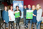 Pictured at the launch of Destination Ballybunion's St. Patrick's Day festivities were Michelle Horgan, Jackie M........, Joanne Kelly-Walsh, Christopher McSorley, Ger Walsh. Marie |Hanrahan & Emma Hanrahan.....Ref Owen..