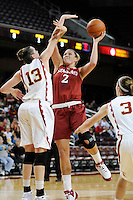 January 8, 2010.  Stanford's Jayne Appel in action against USC.  Stanford defeated USC, 82-62.LOS ANGELES, CA - JANUARY 8:  Jayne Appel of the Stanford Cardinal during Stanford's 82-62 win against the USC Trojans on January 8, 2010 at the Galen Center in Los Angeles, California.