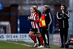 Katie Wilkinson of Sheffield United comes on as a substitute during the The FA Women's Championship match at the Proact Stadium, Chesterfield. Picture date: 12th January 2020. Picture credit should read: James Wilson/Sportimage